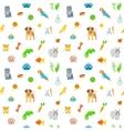 Animal Pets Grooming Flat Colorful Seamless vector image
