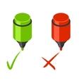 Check mark icons vector image