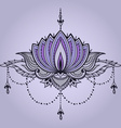 Hand-drawn lotus in east style vector image