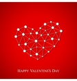 Happy Valentines Day Connected lines with dots vector image