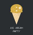 ice cream cone ice cream cone vector image