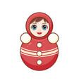 matryoshka babushka doll childrens toy vector image