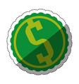 money symbol dollar vector image