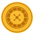 roulette gold coin vector image