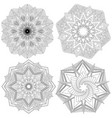 set of mandalas vector image