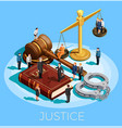 system of justice concept vector image