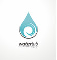 water supply logo design vector image