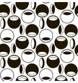 Black and white pattern of circles and ovals vector image