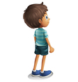 A back view of a young boy vector image vector image