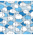 seamless pattern with clouds and rain the weather vector image