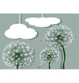 abstract dandelions and clouds vector image