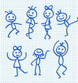 Cartoon Dancing People vector image