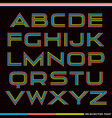 Display sans serif font rainbow vector image