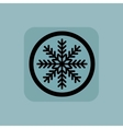 Pale blue winter sign vector image