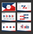 Red Blue presentation templates set vector image