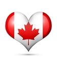 Canada Heart flag icon vector image