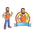Computer Programmer Geek Mascot vector image