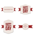 Friendship Day realistic Banners Set vector image