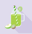 green smoothies from kiwi and apple vector image