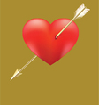 Heart impaled by arrow vector image