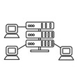 hostingnetwork servers line icon sign vector image