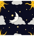 Seamless Pattern with celestial bodies vector image