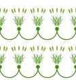 Seamless plant border vector image