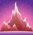 snow mountain vector illustration vector image