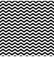 Waves seamless pattern in black and white vector image
