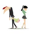 Disagreement between man and woman vector image vector image
