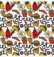 street food seamless pattern vector image vector image