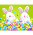 Easter rabbits in candies vector image vector image