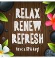 Spa day relax renew refresh vector image