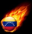 Round glossy icon of venezuela vector image