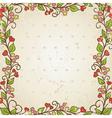 floral frame vector image vector image