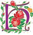 rosette letter H vector image