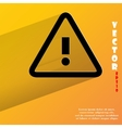 danger exclamation mark Flat modern web button vector image
