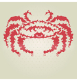 decorative crab vector image