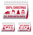 fabric tags textile labels for cards set vector image