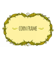 Hand drawn oval corn frame vector image