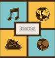 Internet icon design vector image