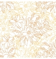 Seamless Pattern Lily Flowers Contours vector image