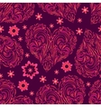Seamless Pattern Valentine Hearts vector image