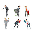 set of six businessmen vector image