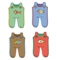 Baby Jumpsuits vector image vector image