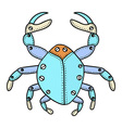 Crab Doodle vector image
