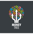 logo money tree vector image