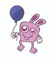 Rabbit and balloon cartoon design vector image