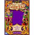Mardi Gras Carnival Poster Invite Carnival Mask vector image