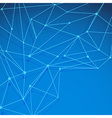 Modern blue molecule background layered vector image